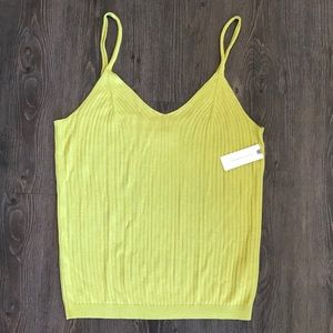 Lime Ribbed Anthropologie Tank